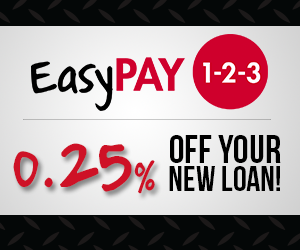 Easy pay gives you 0.25% off your new loan