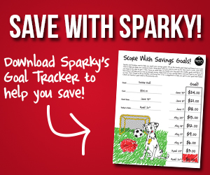 sparky s savings goal tracker