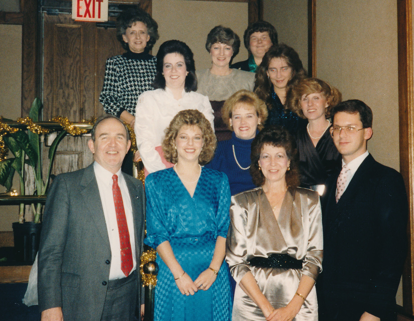 Here is a throwback photo of staff from the 1980s.