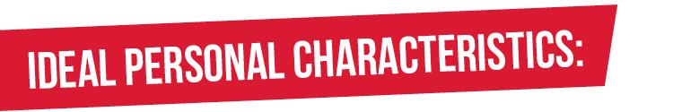 ideal personal characteristics