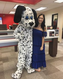 Erika Lauren with Sparky the dog