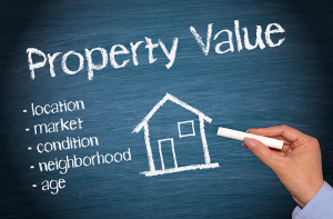 Property value, location, market, condition, and age are things to consider