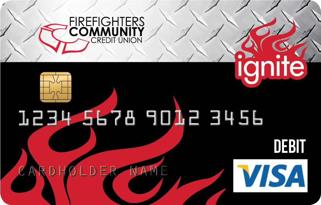 View of The Club Ignite Debit Card