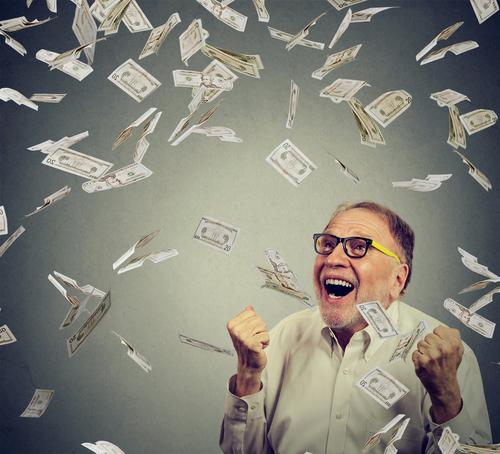 Raining Cash on a Man