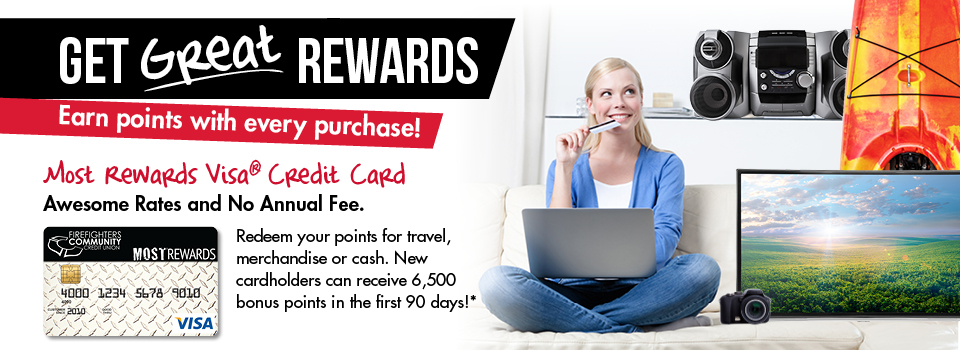 Earn points with our Most Rewards Visa
