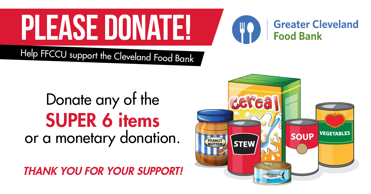 Donate food at any of your local branches