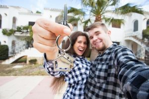 Couple buying a new home