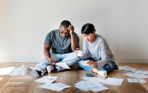 Get your credit back on track-couple managing debt