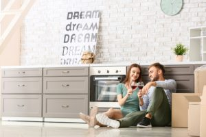 Couple in their dream home-buying a home.