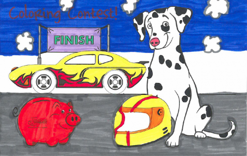 Sparky coloring contest